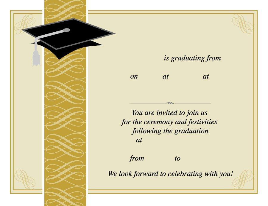 Graduation Ceremony Invitation Template