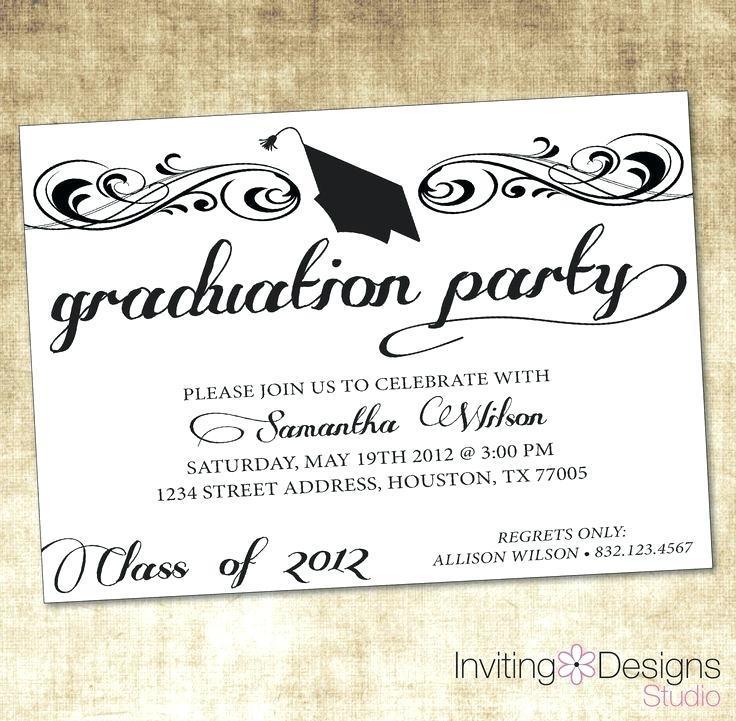 Graduation Ceremony Invitation Templates Free Download