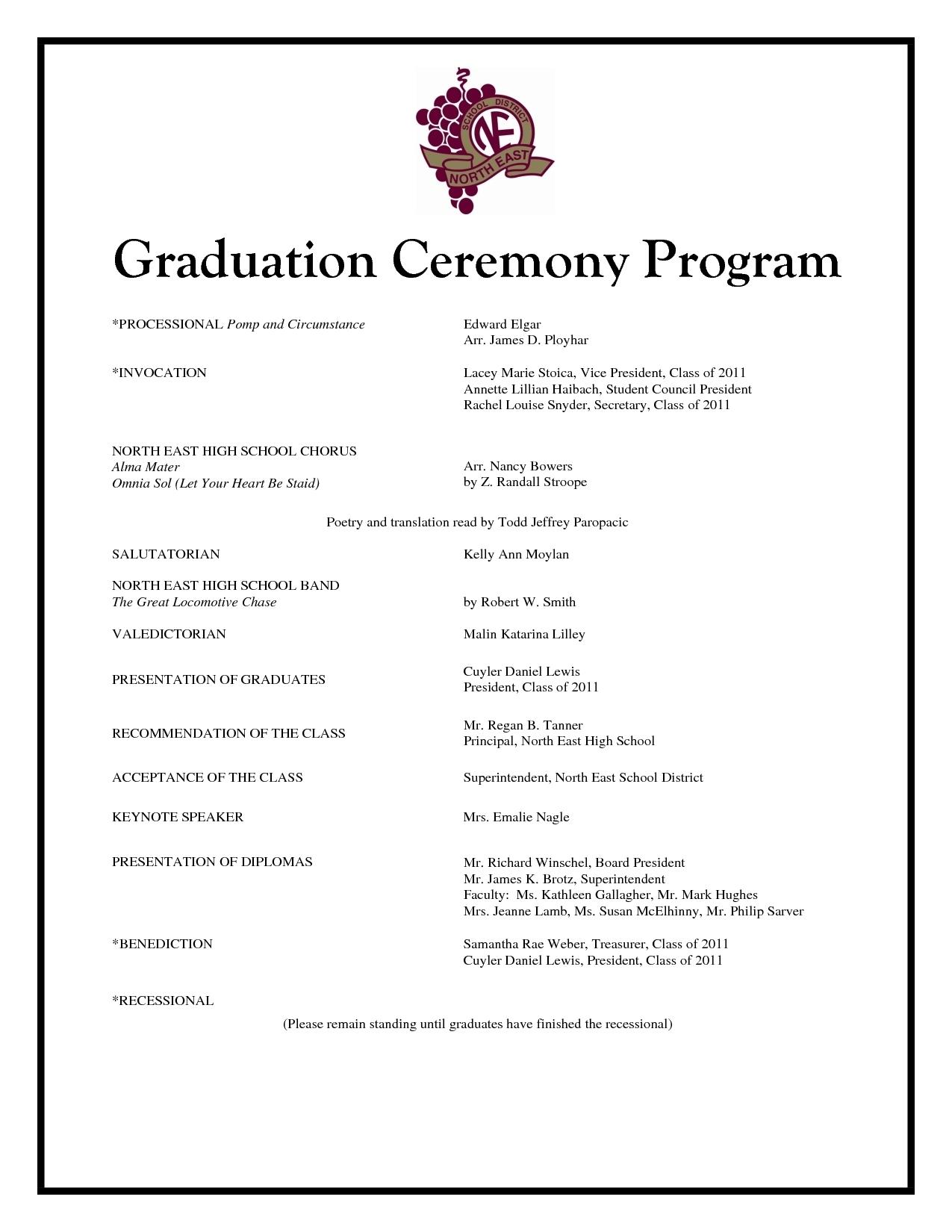 Graduation Ceremony Program Templates