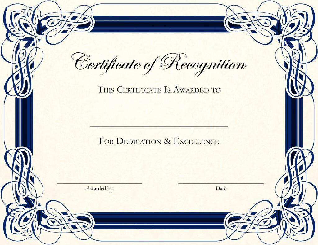 Graduation Certificate Template For Preschool