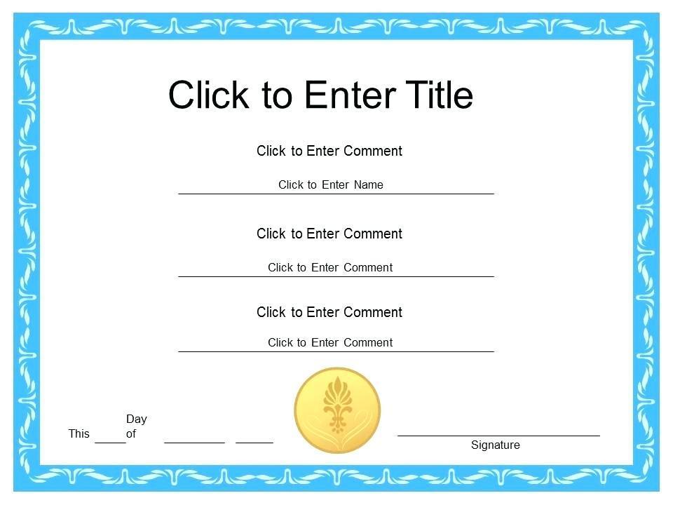 Graduation Certificate Template Publisher