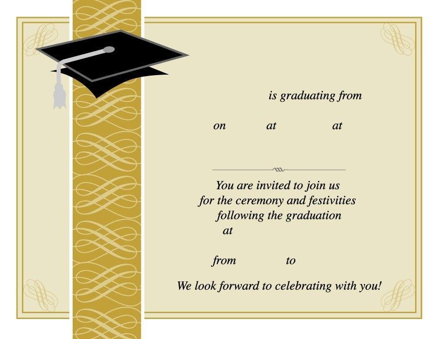Graduation Invitation Template Free Download