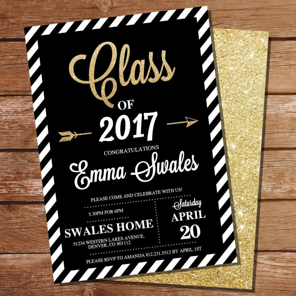 Graduation Invitation Template Photoshop