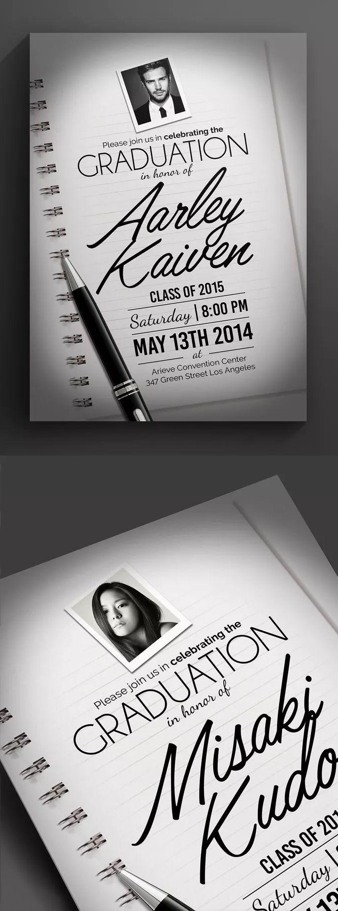 Graduation Invitation Template Psd