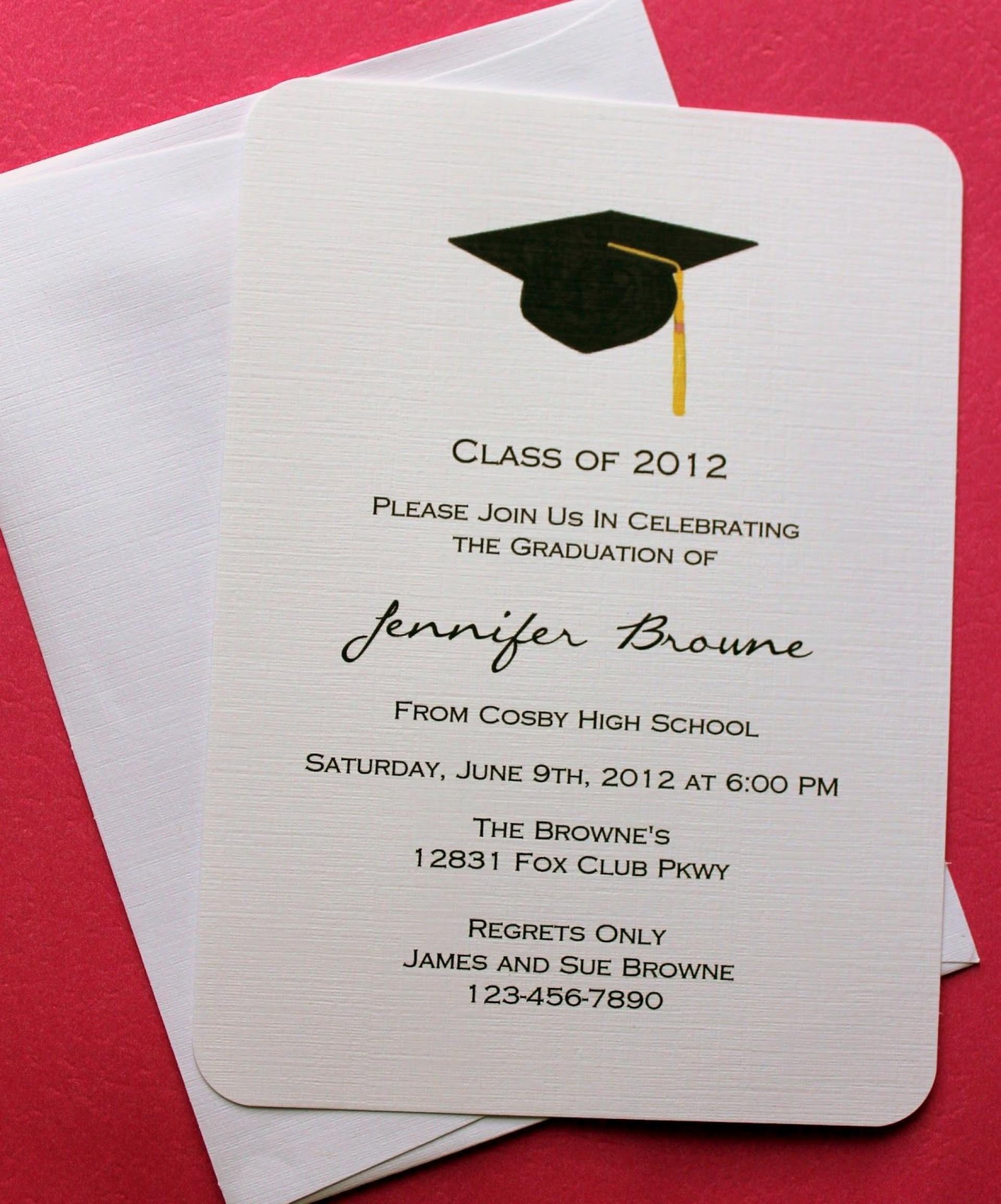 Graduation Invitation Template Publisher