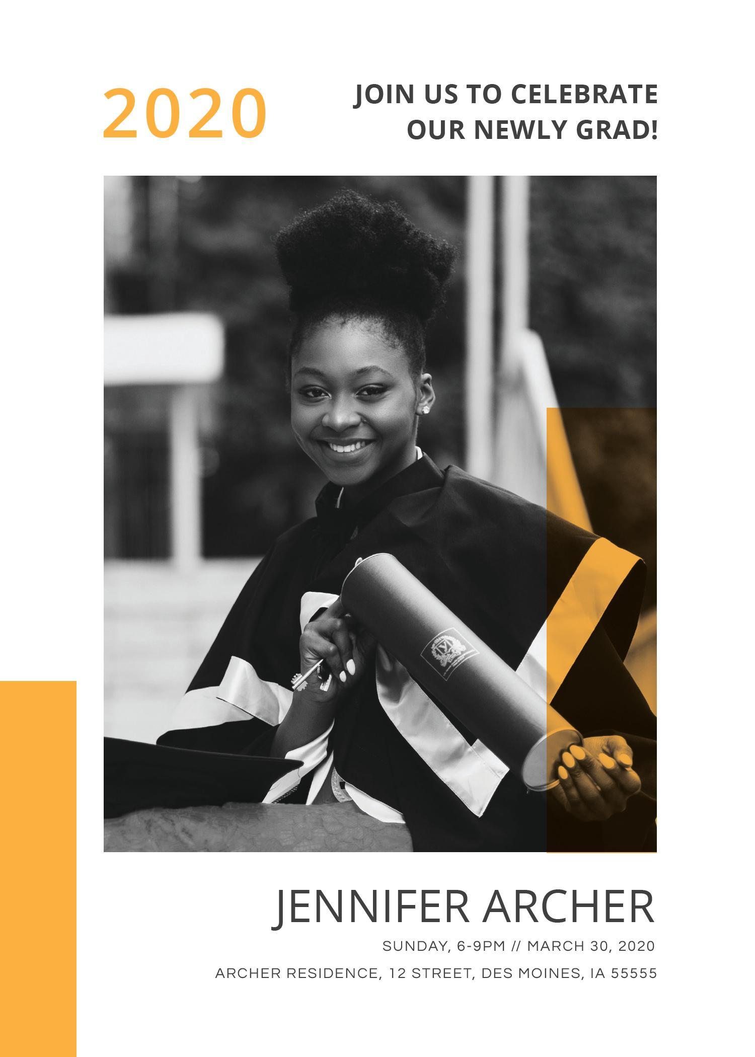 Graduation Invitation Templates 2017