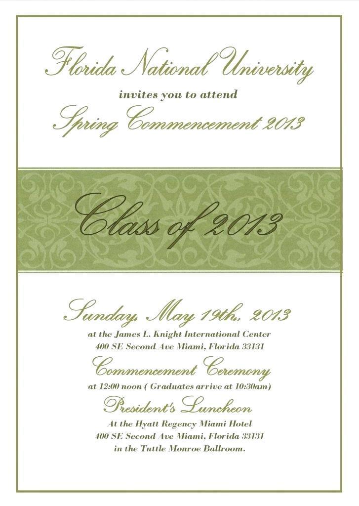 Graduation Invite Layout