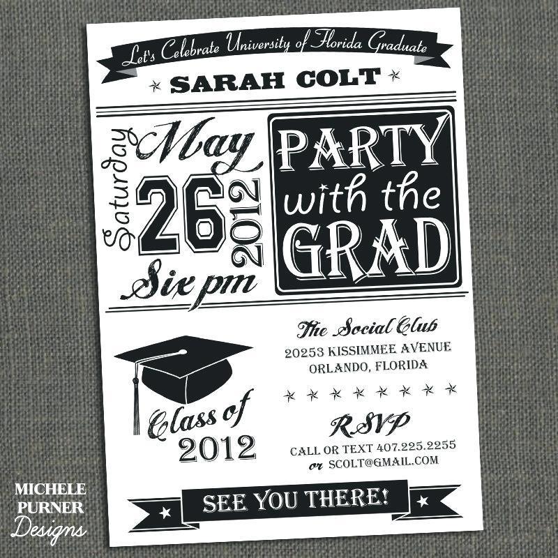 Graduation Open House Invitation Template Free