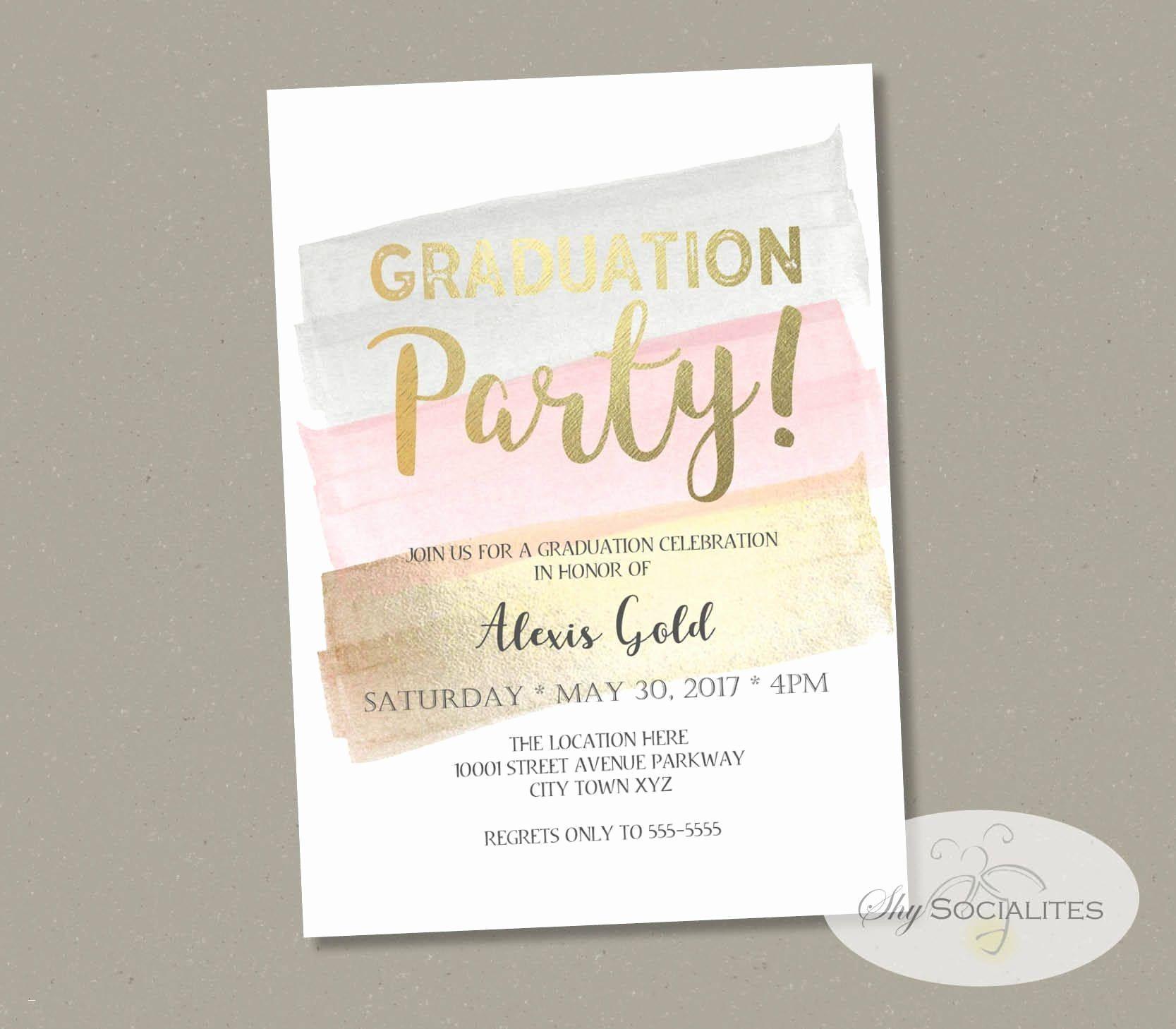 Graduation Open House Invitations Templates