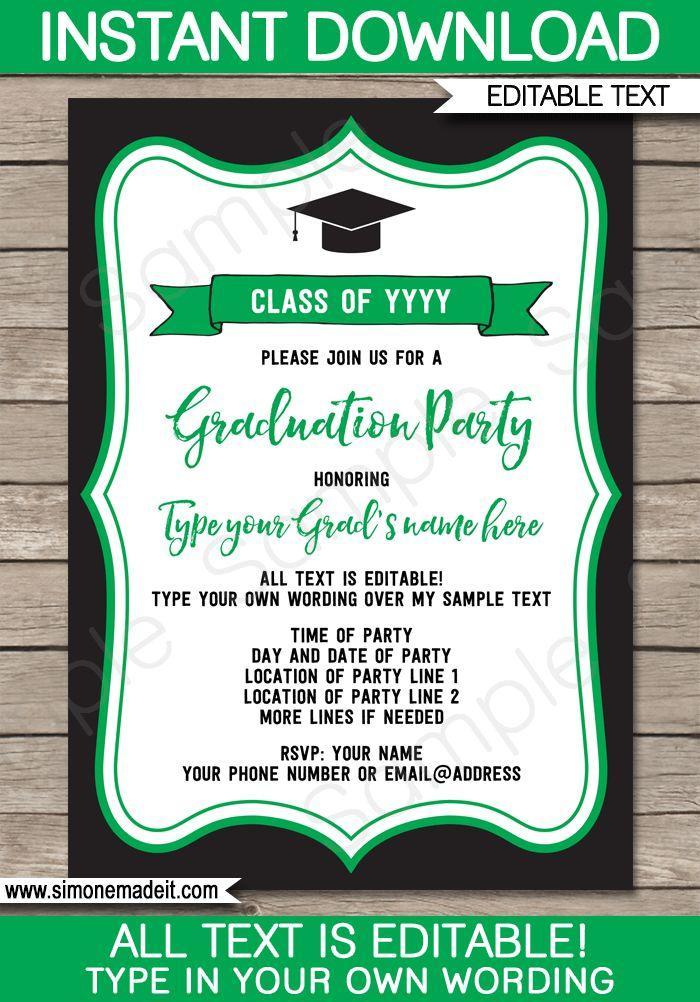 Graduation Party Ticket Templates