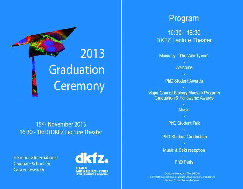 Graduation Program Booklet Template