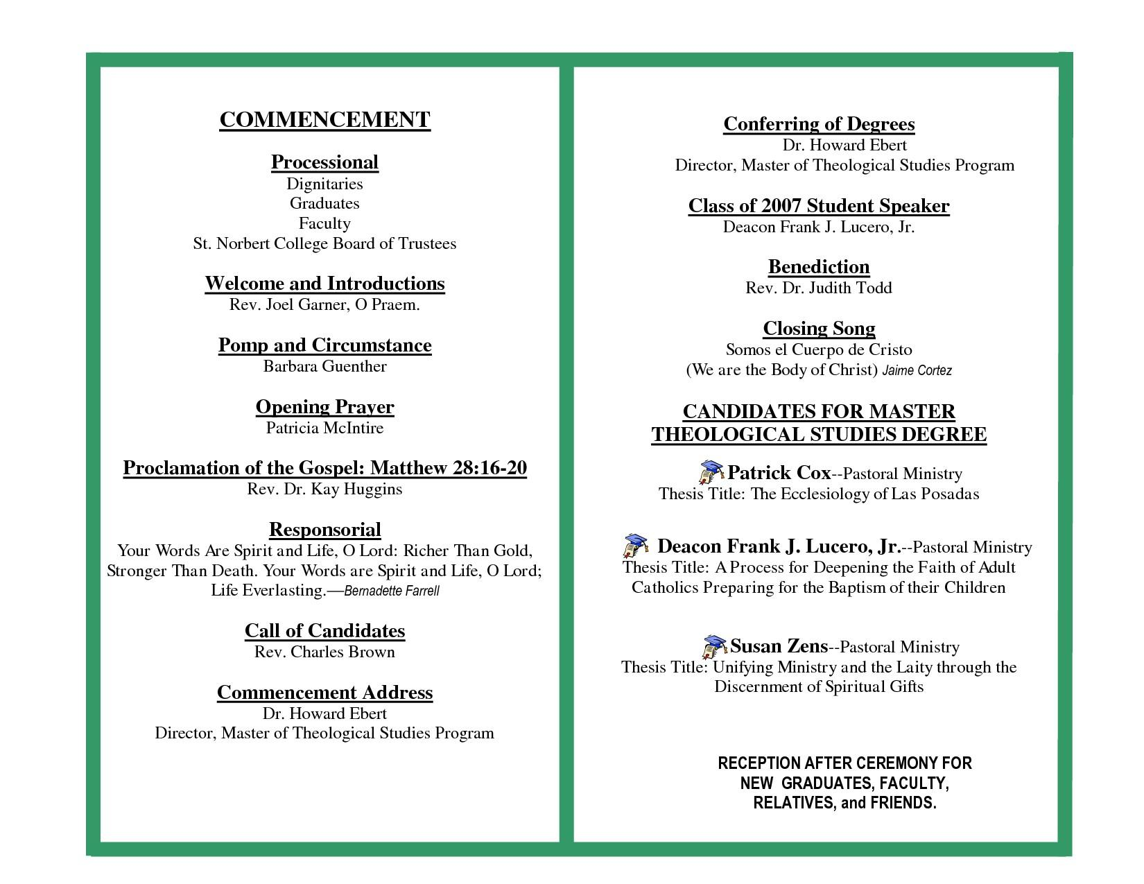 Graduation Program Invitation Template