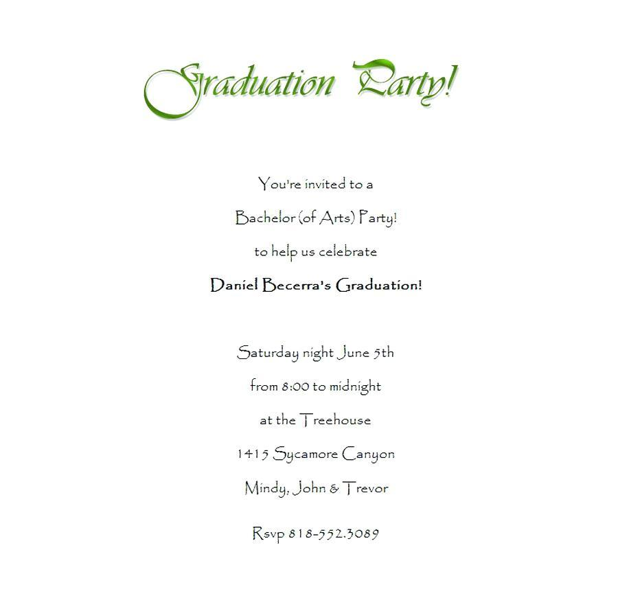 Graduation Reception Invitation Templates