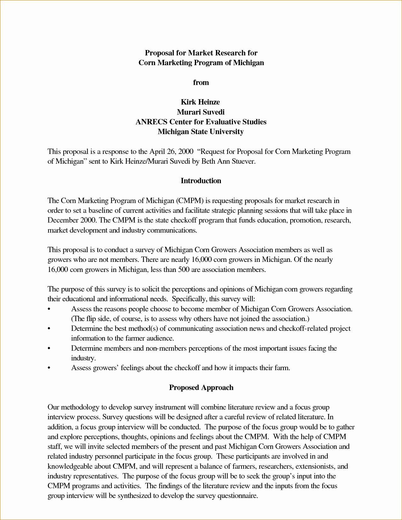 Grant Proposals For Nonprofits Sample