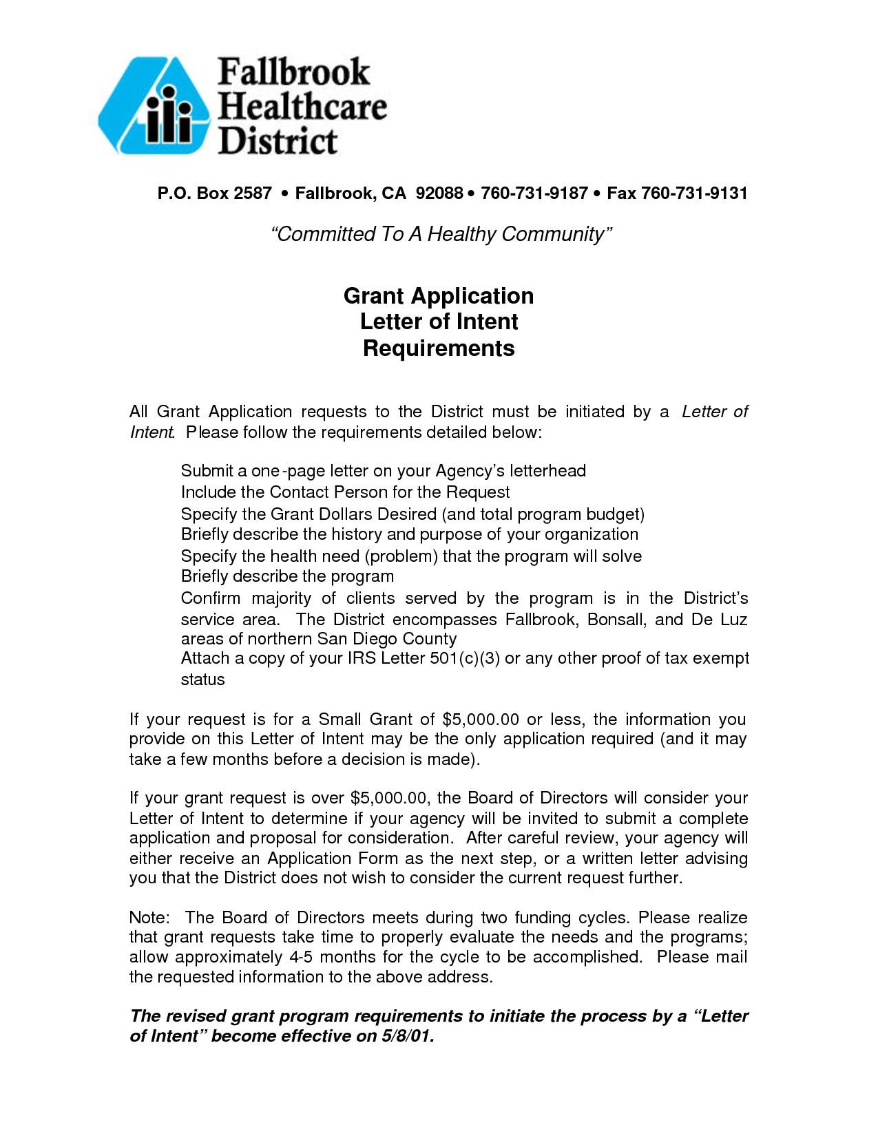 Grant Template For Nonprofit