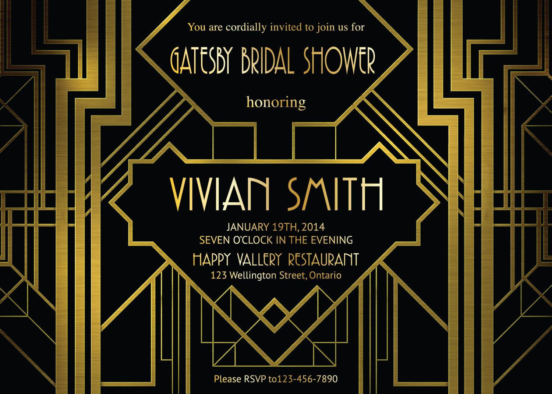 Great Gatsby Invitations Templates