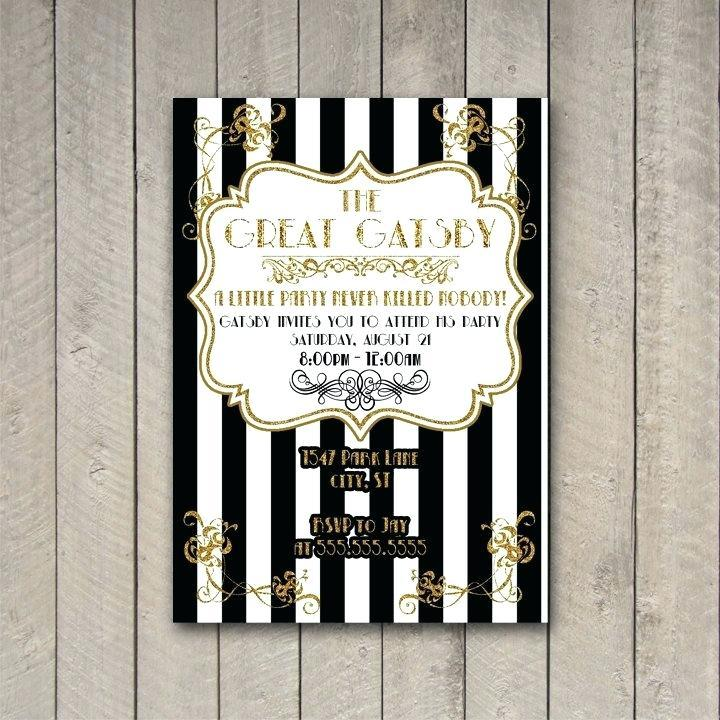 Great Gatsby Invite Template Free