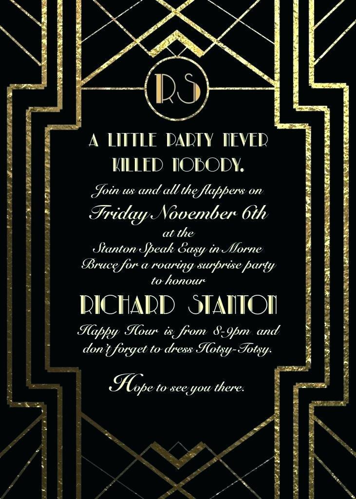 Great Gatsby Invite Template