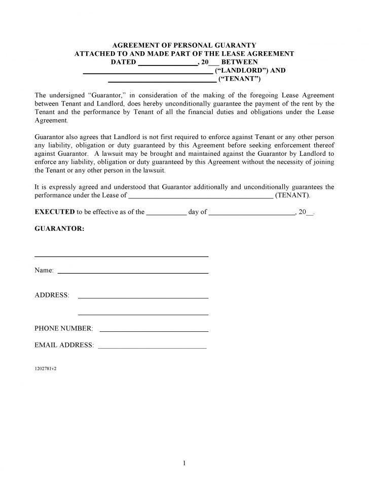 Guarantor Agreement Template