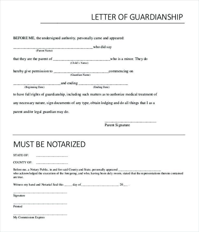Guardianship Letter Template South Africa