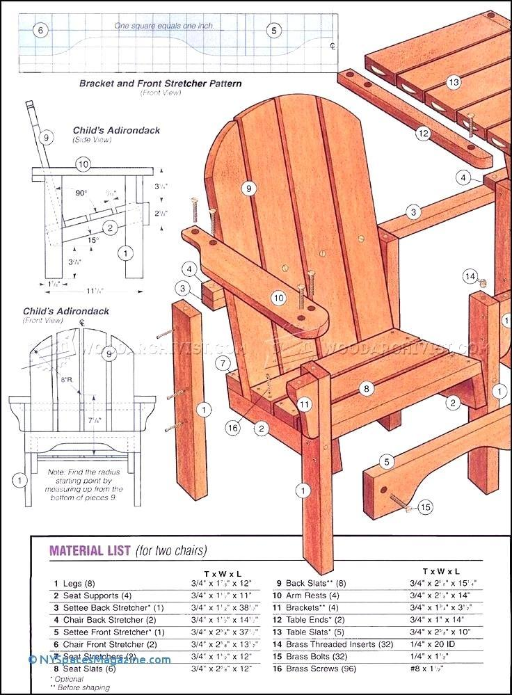 Gumpaste Adirondack Chair Template