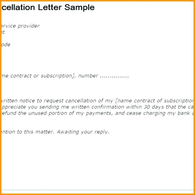 Gym Membership Cancellation Form Template