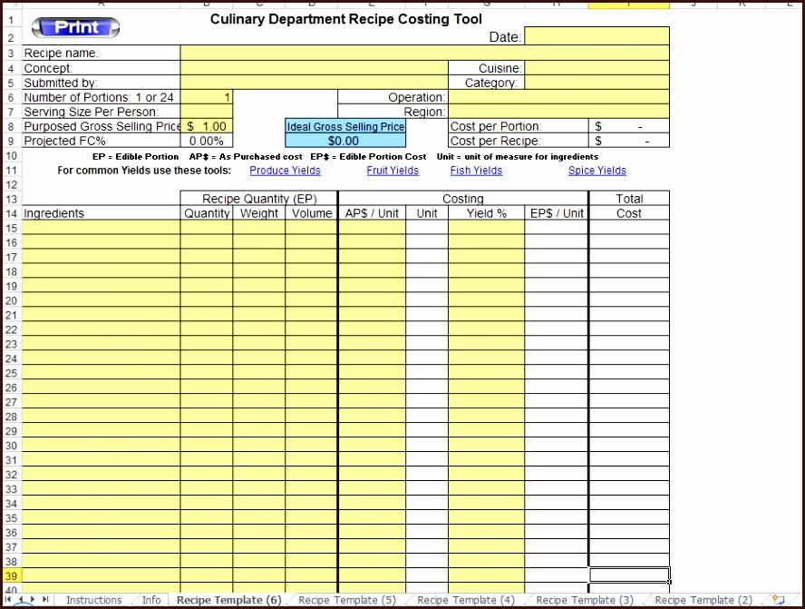 Haccp Plan Template Excel
