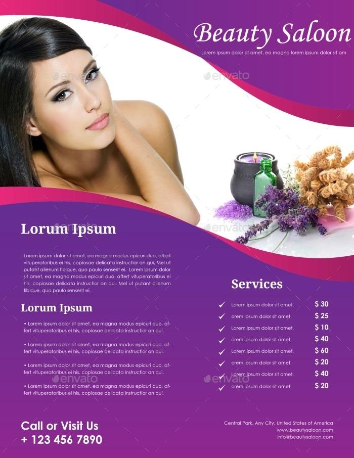 Hair Salon Flyer Templates