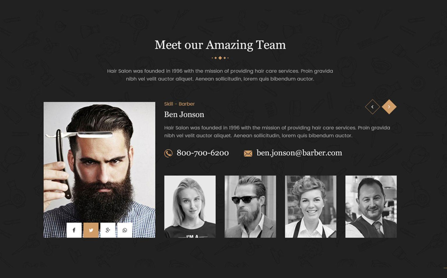 Hair Salon Html Website Templates