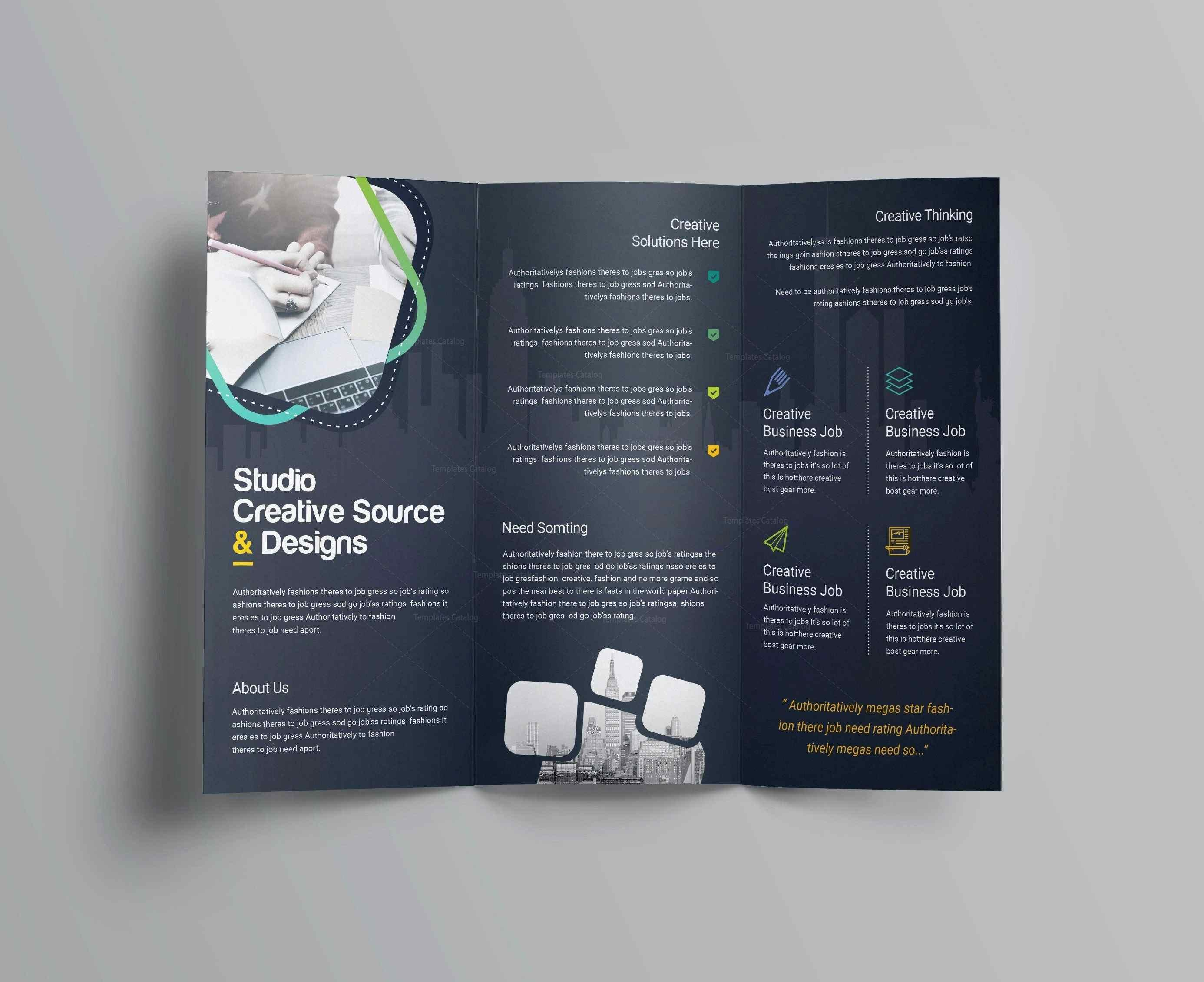 Half Fold Brochure Template Microsoft