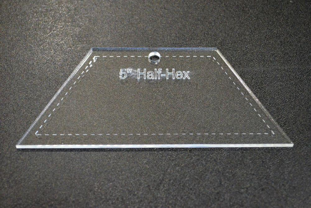 Half Hexagon Quilting Template