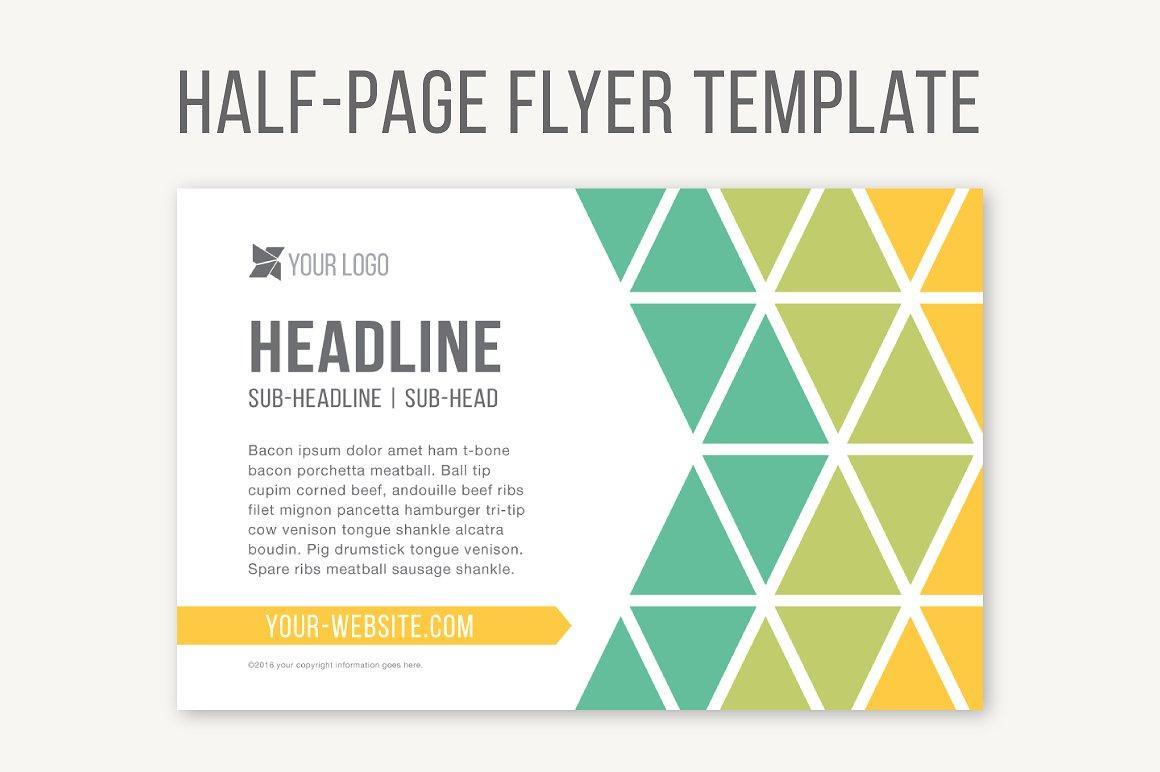 Half Page Brochure Template Word