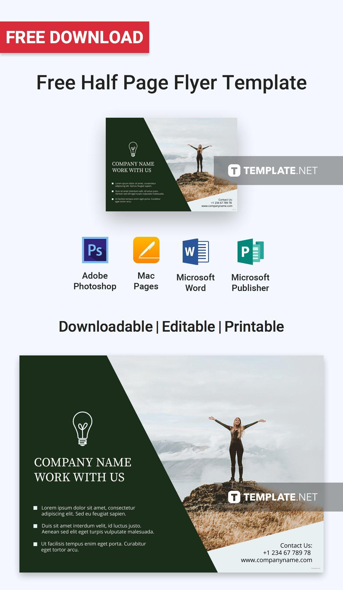 Half Page Flyer Template Free