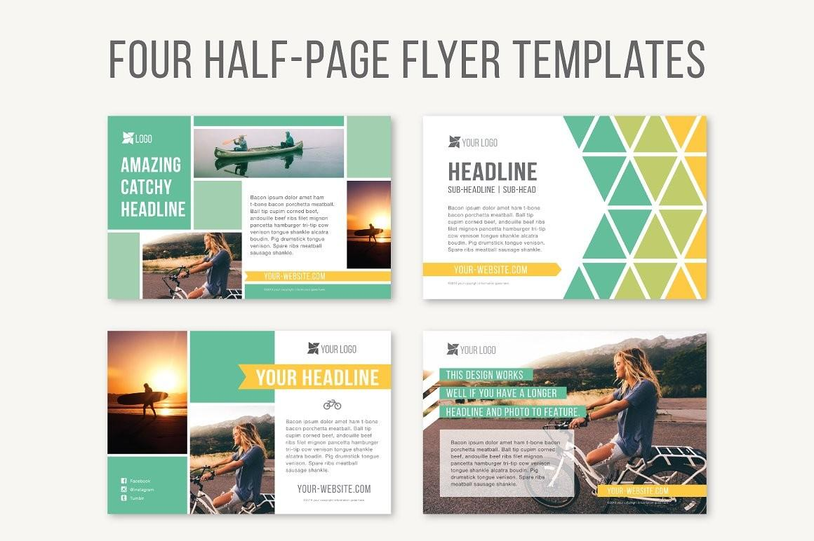 Half Page Flyer Template Publisher