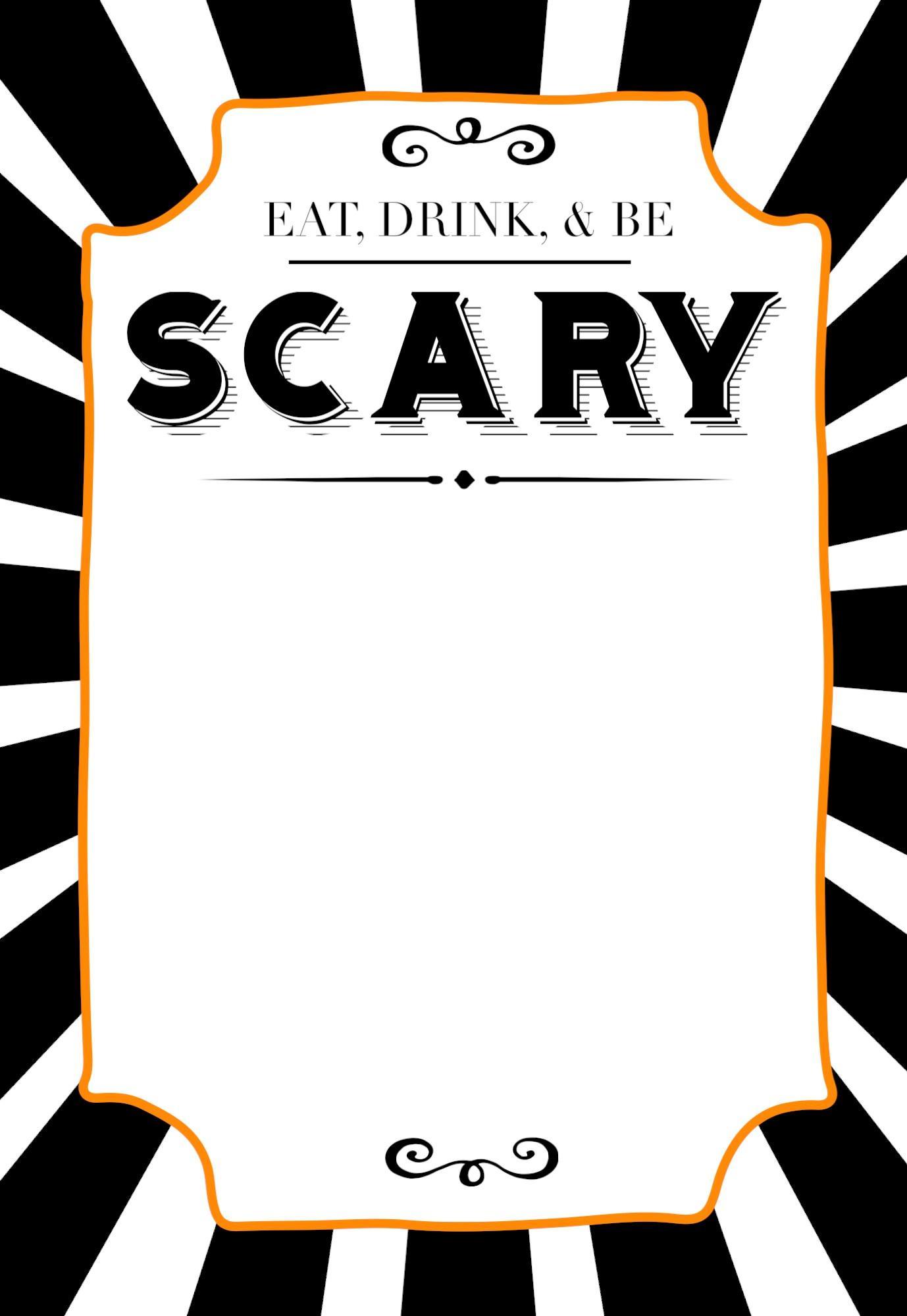 Halloween Invitation Templates Printable