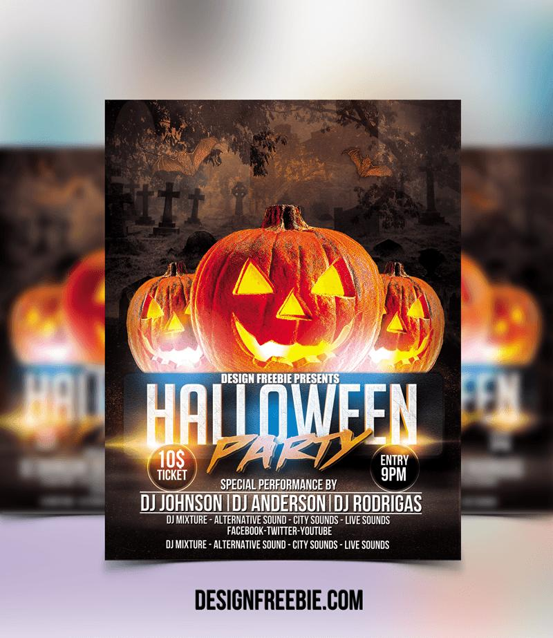 Halloween Party Template Free