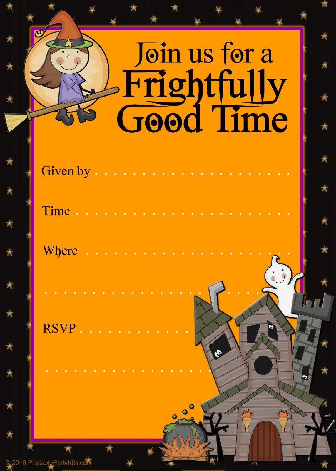 Halloween Party Template Word