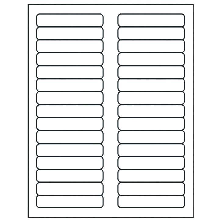 Hanging File Tab Label Template