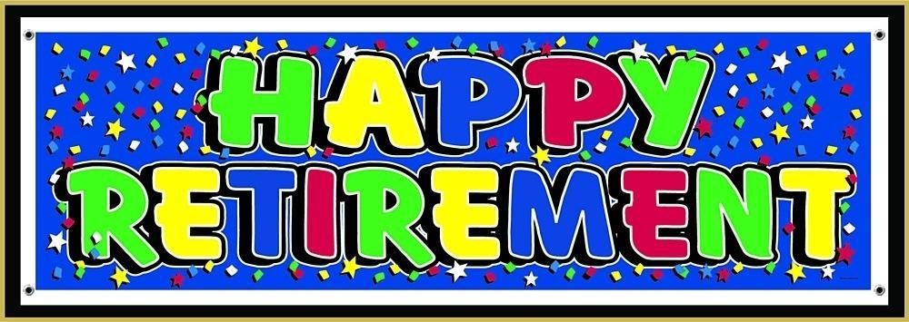 Happy Retirement Banner Template