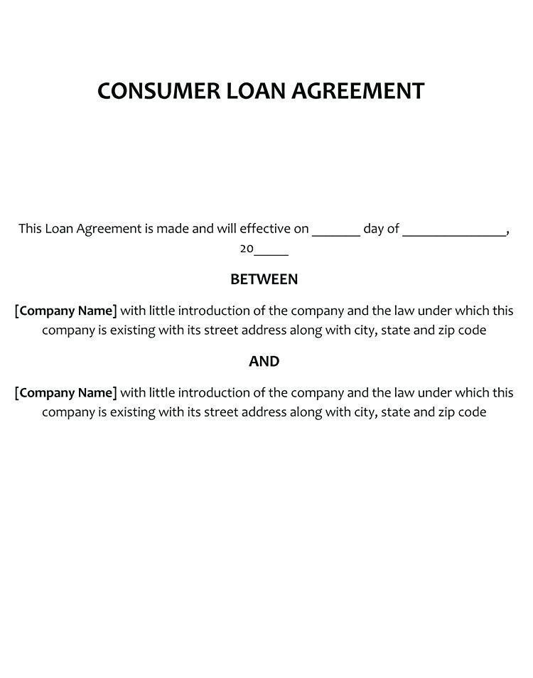Hard Money Lending Contract Example