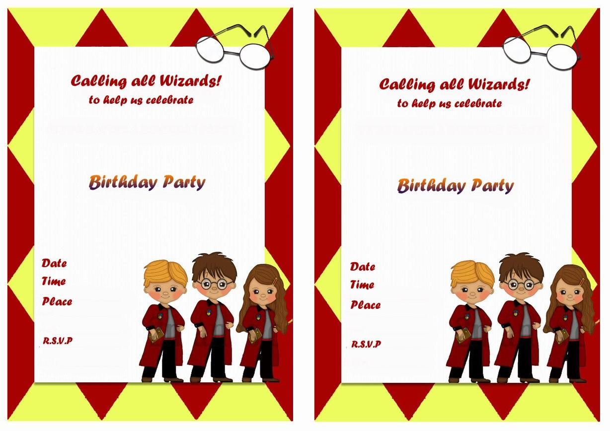 Harry Potter Owl Invitation Template
