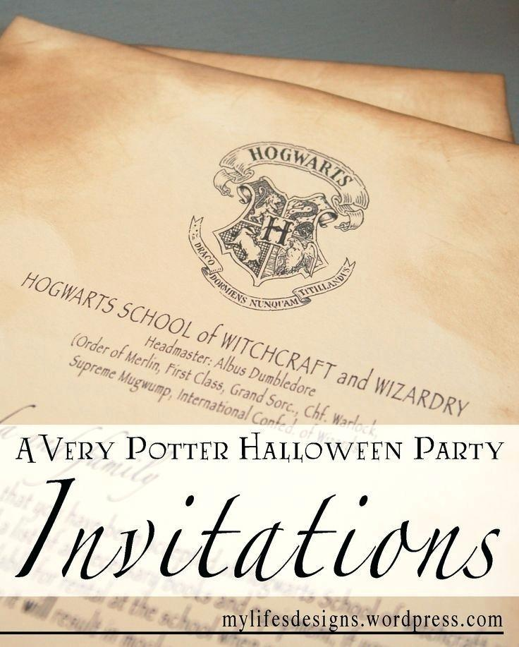 Harry Potter Themed Invitation Template