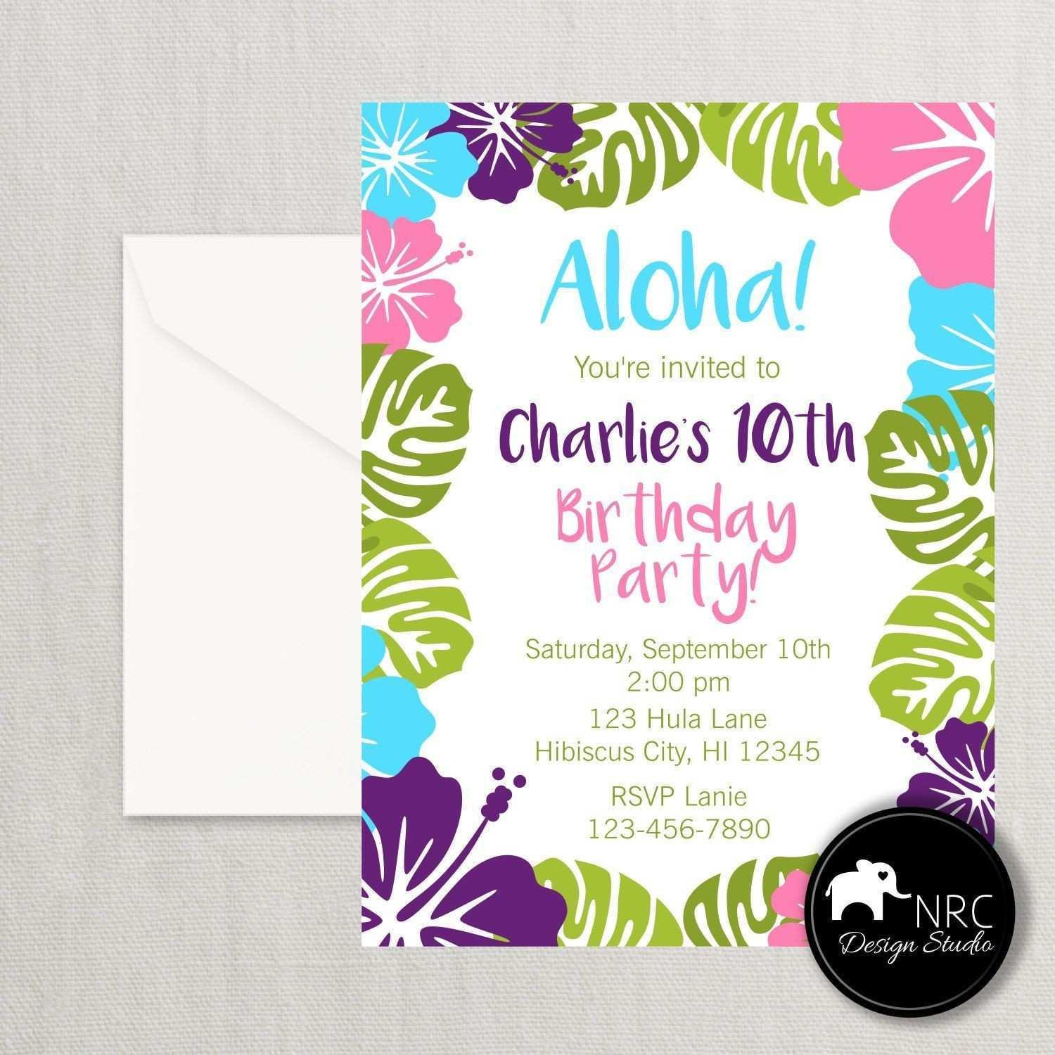 Hawaiian Invitation Templates