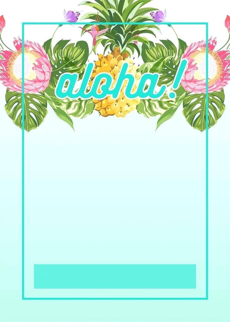 Hawaiian Party Invitation Free Template