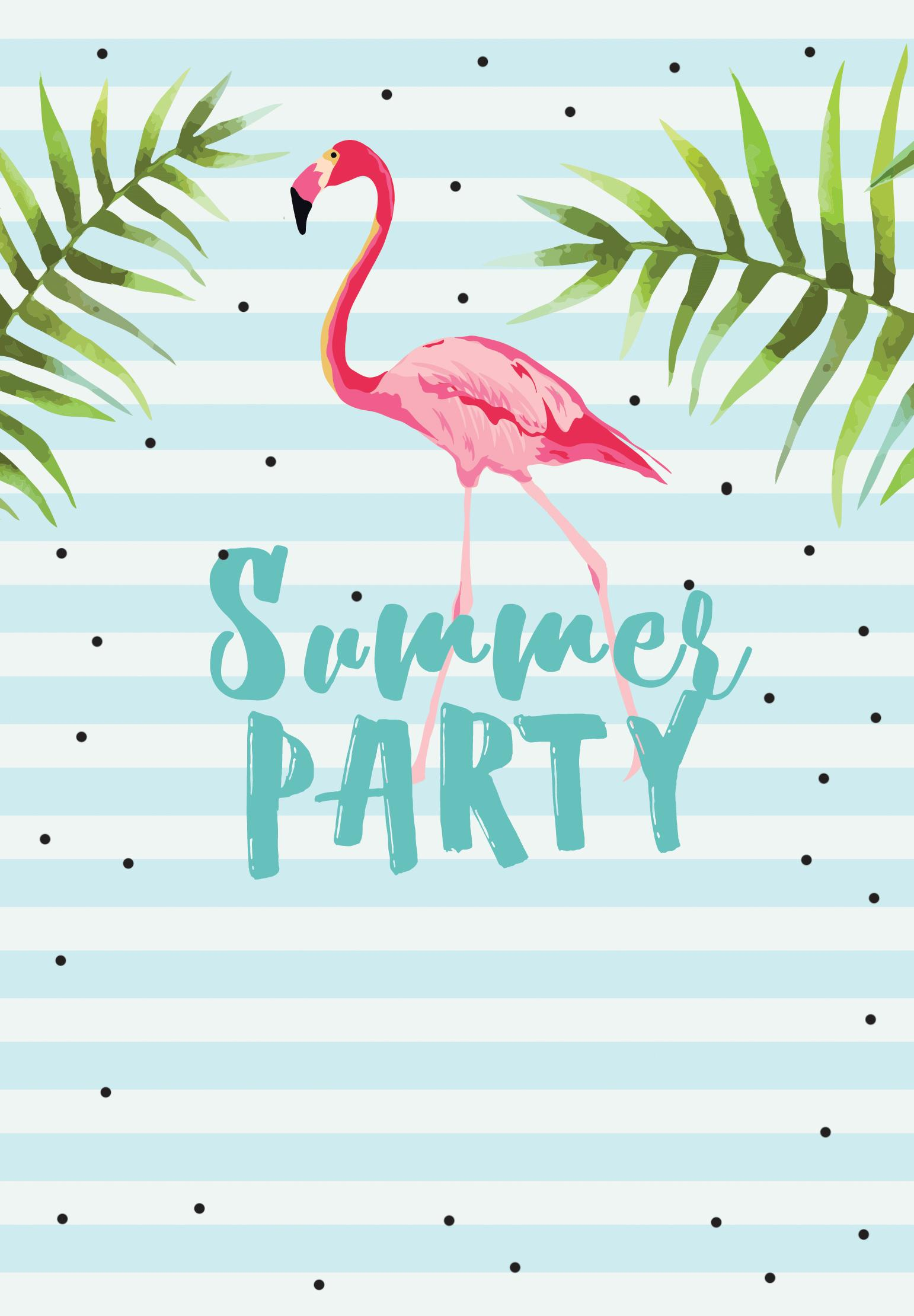Hawaiian Party Invitation Template