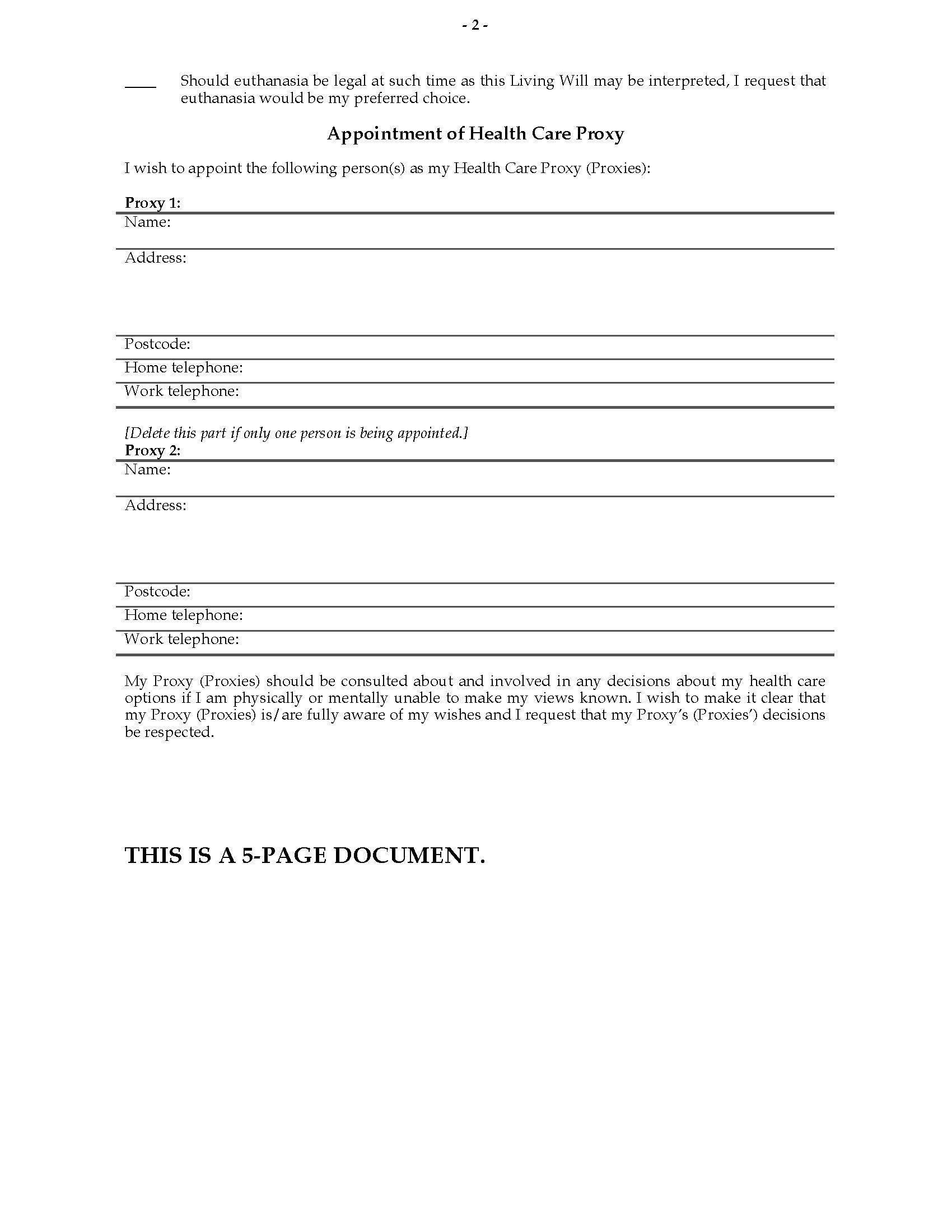 Health Care Directive Form Saskatchewan