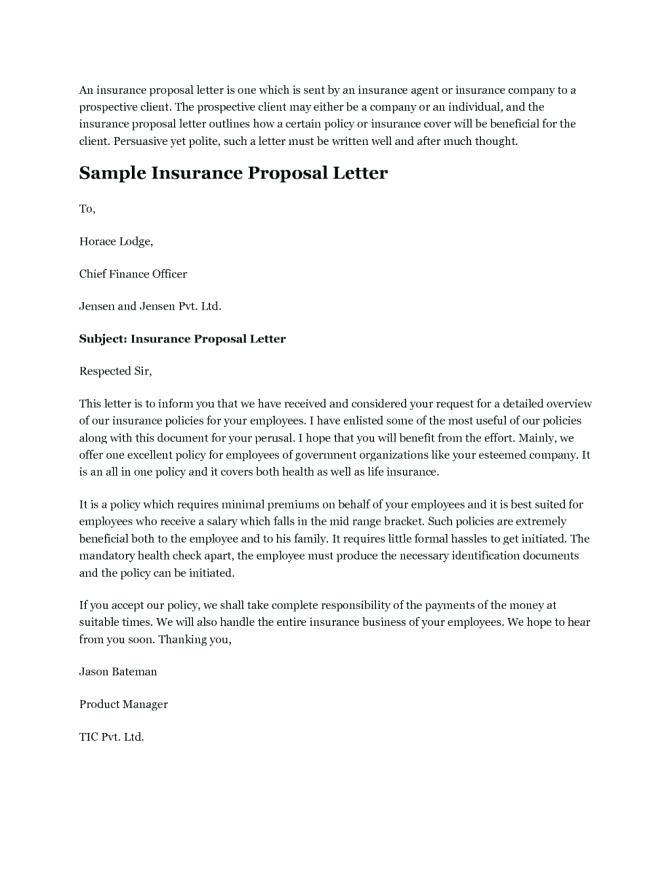 Health Care Policy Proposal Template