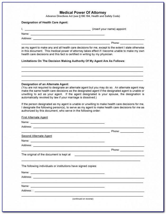 Health Care Power Of Attorney Forms Kentucky
