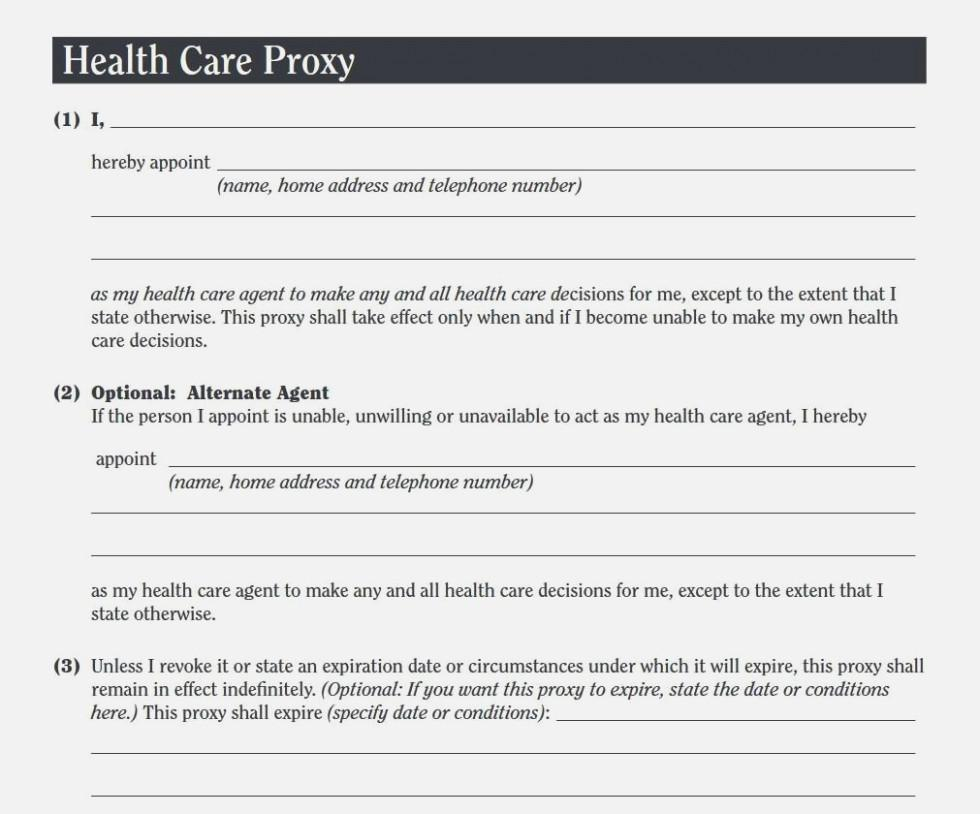 Health Care Proxy Form Spanish