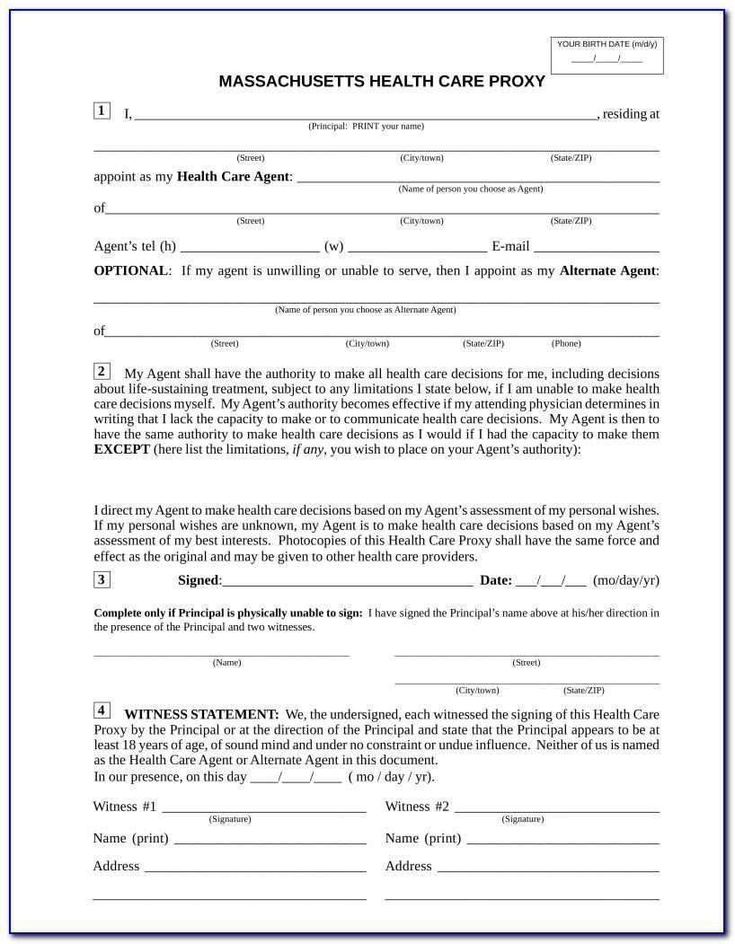 Health Care Proxy Form Texas